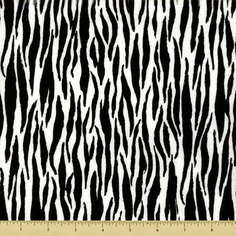 Noah's Ark Zebra Stripe Cotton Fabric - White Y1065-1