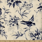 Northgate Manor Floral Cotton Fabric - Blue