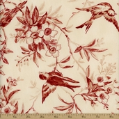 Northgate Manor Floral Cotton Fabric - Red