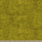 Northwoods Pine Needles Cotton Fabric - Gold