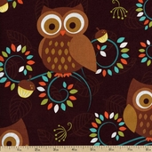 Norwegian Woods Happy Hooters Cotton Fabric - CX5967-FORE-D