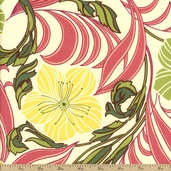 Nouveau Cotton Fabric - Cream 32015-18