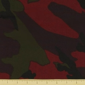 Novelty Cotton Fabric - Camouflage Large - Red Earth - Clearance
