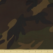 Novelty Cotton Fabric - Large Camouflage - Earth - CLEARANCE