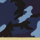 Novelty Cotton Fabric - Large Camouflage - Navy