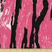 Novelty Cotton Fabric - Messy Camouflange - Pink - Clearance