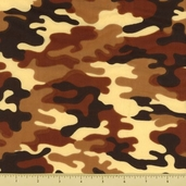 Novelty Cotton Fabric - Small Camouflage - Desert - Clearance