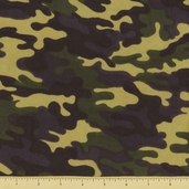 Novelty Cotton Fabric - Small Camouflage - Earth - Clearance