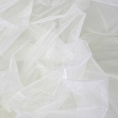 "Nylon Organdy Fabric - 54"" x 3 yds Two Tone Ivory"