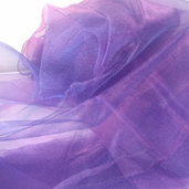 "Nylon Organdy Fabric - 54"" x 3 yds Two Tone Lavender"