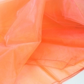 "Nylon Organdy Fabric - 54"" x 3 yds Two Tone Peach"