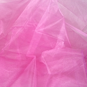"Nylon Organdy Fabric - 54"" x 3 yds Two Tone Rosy Pink"