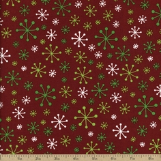 O' Tinsel Tree 2 Cotton Fabric - Crimson AMF-12149-91