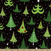 O' Tinsel Tree 2 Cotton Fabric - Holiday AMF-12152-223