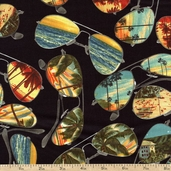 Ocean Avenue Shades Cotton Fabric - Black