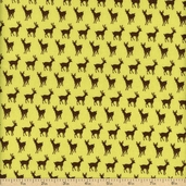 Oh Deer! Cotton Fabric - Green 16076-16