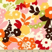 Oh Deer! Mod Floral Cotton Fabric - 16071-13