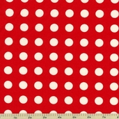 Oh Deer! Polka Dot Cotton Fabric - Cherry 16073-23