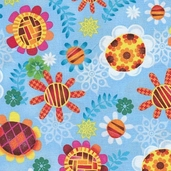 Oh Hoppy Days Cotton Fabric - Multi