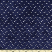 Old Glory Gatherings Stars Cotton Fabric - Dark Blue 1075-21