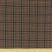 Old Glory Homespun Cotton Fabric - Plaid Black/ Wine - CLEARANCE