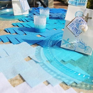 Ombre Felt Table Runner