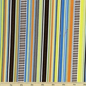 On the Go Cotton Fabric - Stripe - Blue C3186