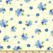 Once Upon A Time Daisies Cotton Fabric - Yellow E60-7261-77