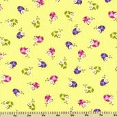 Once Upon A Time Lady Bug Cotton Fabric - Green E60-7262-66