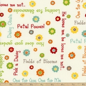 One For You One For Me Say It Cotton Fabric - Natural