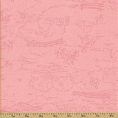 Ooh La La Cotton Fabric - Countryside Toile - Pink