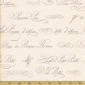 Ooh La La Cotton Fabric - French Script Grey