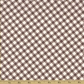 Ooh La La Cotton Fabric - Gingham - Grey