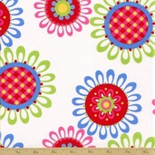 Ooh La La Cotton Fabric - Le Fleurs - Sky