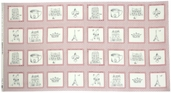 Ooh La La Cotton Fabric - Patchwork Scene Quilt Panel - Pink