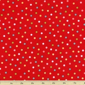 Ooh-La-La Cotton Fabric - Red - CLEARANCE