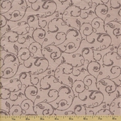 Ooh La La Cotton Fabric - Scroll Grey