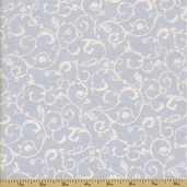 Ooh La La Cotton Fabric - Scroll - Sky