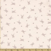 Ooh-La-La Cotton Fabric - Silver Spoons - Grey