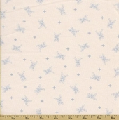 Ooh La La Cotton Fabric - Silver Spoons - Sky