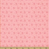 Ooh La La Cotton Fabric - Tiny Scroll Pink