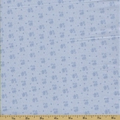 Ooh La La Cotton Fabric - Tiny Scroll - Sky
