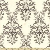 Ooh La La Cotton Fabric - Versailles Damask - Grey