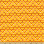 Orange Crush Cotton Fabric - Citrus Bricks