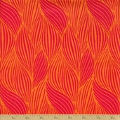 Orange Crush Cotton Fabric - Orange Punch