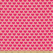 Orange Crush Cotton Fabric - Watermelon Bricks