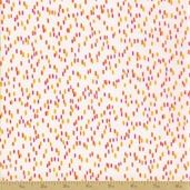 Orange Crush Cotton Fabric - White Rain