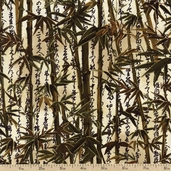Oriental Traditions 10 Bamboo Cotton Fabric - Natural AGUM-13033-14 NATURAL