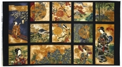 Oriental Traditions 10 Cotton Fabric Panel AGUM-13031-91
