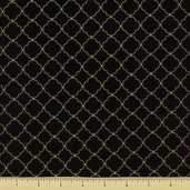 Oriental Traditions 10 Tile Cotton Fabric - Black ESKM-13030-2 - Clearance